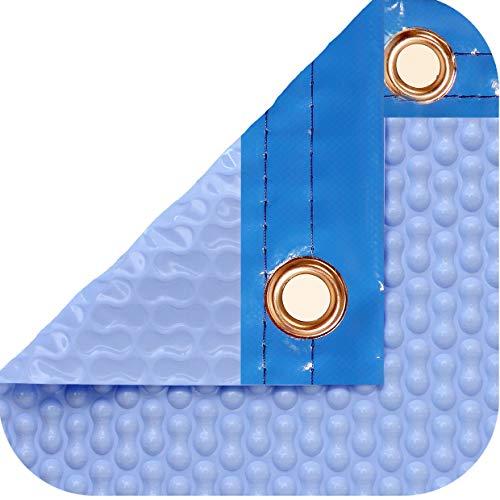 International Pool Protection Pack de protection thermique de 500 microns GEOBUBBLE COOLGUARD (7 x 5,5 m) + Enrouleur téléphonique de 81 mm