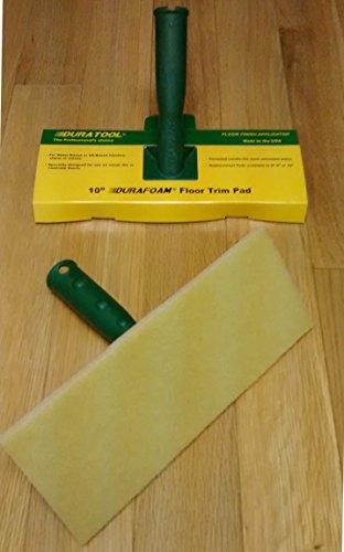 "Duratool Durafoam 10"" Floor/trim Pad Paint and Finish Applicator with Handle #8040"