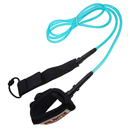 Scuba Choice Palantic Surfing Surfboard Blue Leash with Neoprene Ankle Cuff and Swivel Joints, 12'