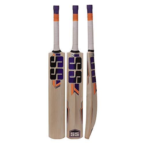 SS Kashmir Willow Leder Ball Cricketschläger, exklusiver Cricketschläger für Erwachsene, volle Größe mit Vollschutz (Super Power, Cannon, Impact) von Yogi Sports ..., Shorts Handle