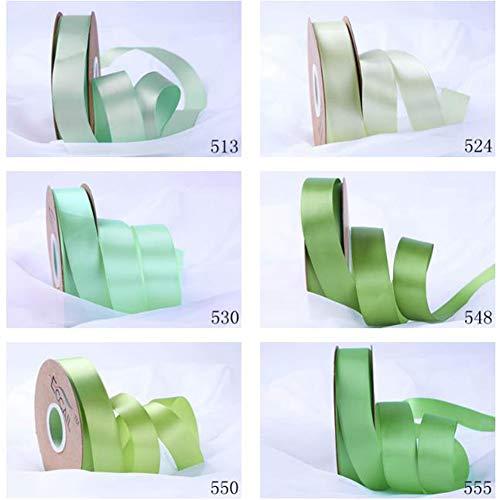 TrusMe 6 mm 100 yardas cinta de manualidades decoración de boda DIY lazos suministros de lazo, decoración del hogar, 6 piezas