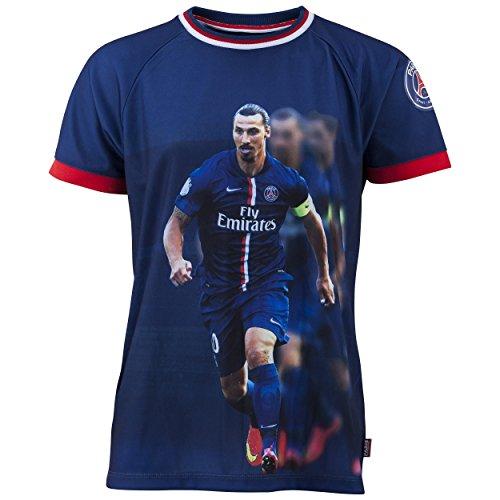 PARIS SAINT GERMAIN Trikot mit Motiv Zlatan Ibrahimovic, Nr. 10, offizielle Kollektion, Erwachsenengröße, für Herren - L