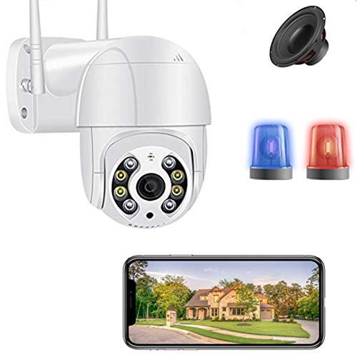 AINSS HD 3Mp Mini Cámara WiFi Ptz Motion Voice 2 Vías Alerta De Audio Detección Humana Cámara IP Al Aire Libre Audio IR Visión Nocturna Video Vigilancia Onvif IR 30M 1080P Sin Tarjeta