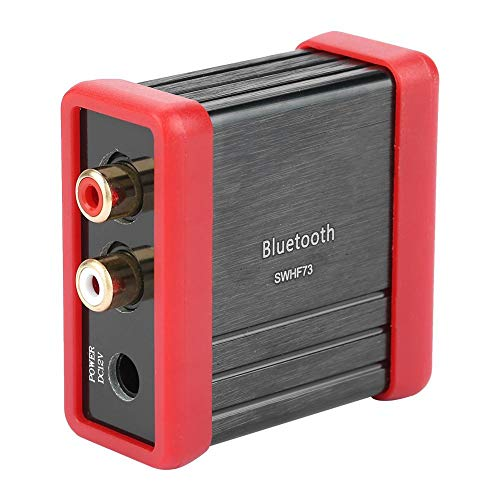 FTVOGUE Conector de Adaptador de Altavoz RCA Bluetooth Inalámbrico Para el Amplificador de Audio del Coche 12V DC HF73