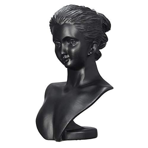 CHQY Tableau daffichage de Bijoux, Buste dart de la résine de la déesse Sculpture, Collier de Mannequin Pendentif Pendentif Boucle doreille-Decor à la Maison, Doit (no Black