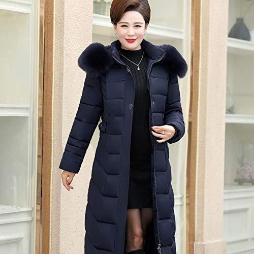 WFSDKN dames donsjas winter abajo katoen meisjes slim fit mantel lange katoen oversized lederen kraag met capuchon mode