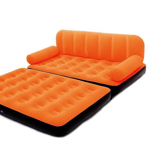 Bestway 3in1 Multifunktionscouch Luftbett Luftmatratze inkl. elektrischer Pumpe - Bett Couch Sessel Oragne