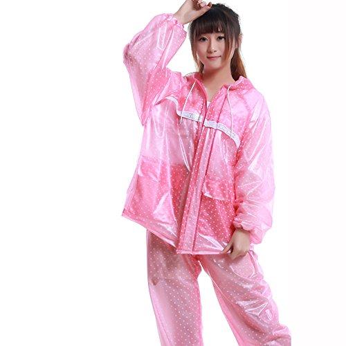 XXHDEE regenbroek voor volwassenen, transparant, voor paardrijden in de open lucht, waterdicht, zelfoplichtend, voor mannen en vrouwen