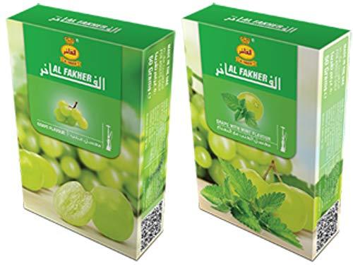 Al Fakher Herbal Shisha Grape Flavor 2 x 50g packs - Total...