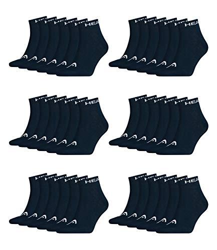 HEAD Unisex Quarter Sportsocken 18er Pack, Größe:35-38;Farbe:Navy (321)