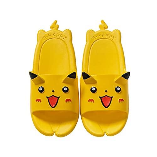 Slippers Jaune Pokemon Cute Slide Sandales Sandales Léger Enfants Summer Beach Piscine Piscine Pantoufles Sandales Non, Summer Eau Chaussures Sandales pour garçons Filles (Size : Foot Length 20cm)