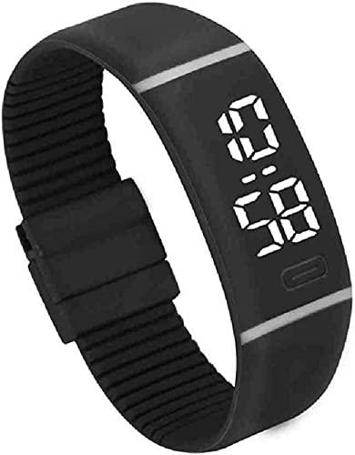 JZDH Mano Reloj Reloj de Pulsera Hombres Mujeres Goma LED Reloj Digital Relogios Fecha Pulsera Deportiva Reloj de Pulsera Digital Relojes Decorativos Casuales (Color : A)