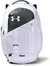 Under Armour Adult Hustle 4.0 Backpack , White (100)/Pitch Gray , One Size