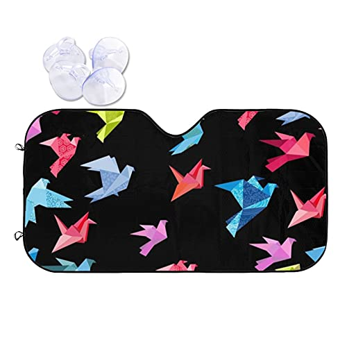 N\\A Car Windshield Sunshade Uv Protector Automotive Origami Birds Window Sunshades Fit for Cars, Suvs, Trucks Keeping Your Vehicle Cooler