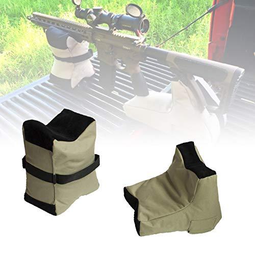 EnweLampi Sacos Tiro Rifle, Saco Arena Rifle con Tela Oxford 600D Duradera, Firme Estable, Bolsa Descanso Delantera Trasera para Disparos para Caza, Tiro & Rifle (sin Relleno)