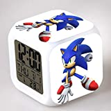 HHKX100822 Sonic Colorful Color Ing-Color Despertador Led Quad Clock Children's Creative Gift Small Alarm Clock 32