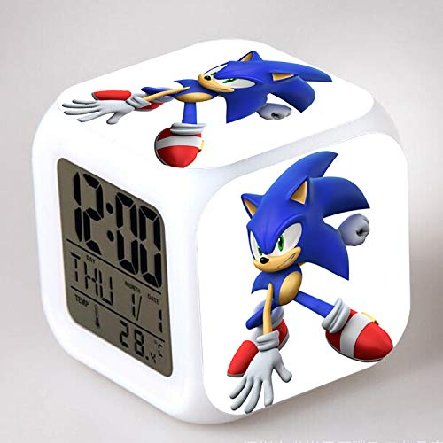 HHKX100822 Sonic Colorful Color Ing-Color Despertador Led Quad Clock Children's Creative Gift Small Alarm Clock 32