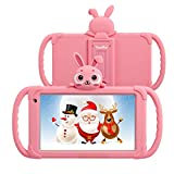 Tablet for Kids 7 Kids Tablet for Toddlers 1GB 16GB Android 9.0 Toddler Tablets with Case Included WiFi Camera HD Screen Google Play Store YouTube Parental Control (Pink)