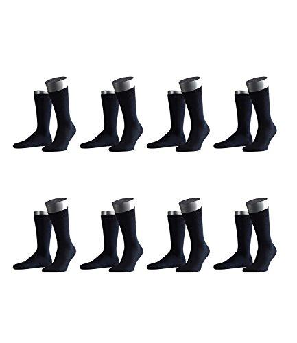 FALKE Herren Business-Socken Swing 14633 8 Paar, Farbe:Blau;Sockengröße:43-46;Artikel:-6370 dark navy