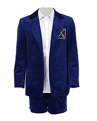 Zhangjianwangluokeji Herren Blau Anzug Kurze Hosen Band Leistung Kostüm (M, Blau)