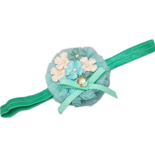 Baby Girl élastique Bandeaux/ Super Soft Bandeaux/ Handmade Vert