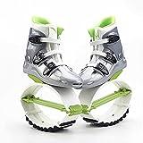 Saltar Zancos Zapatos De Salto Para Ejercicios Para Adultos, Zapatos Portátiles Para Saltar Al Aire Libre, Zapatos De Rebote Para Ejercicios De Coordinación Física Y F(Size:70-90 KG,Color:Green 42-44)