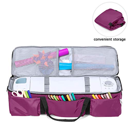 Luxja Carrying Case for Cricut Explore Air (Air2) and Maker, Foldable Bag for Cricut Explore Air (Air2) and Supplies (Bag Only), Burgundy