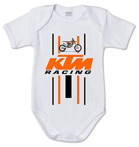 Stampa Body de bebé para motocross, idea regalo para nacimiento, foto o moto Color blanco. 3 mes