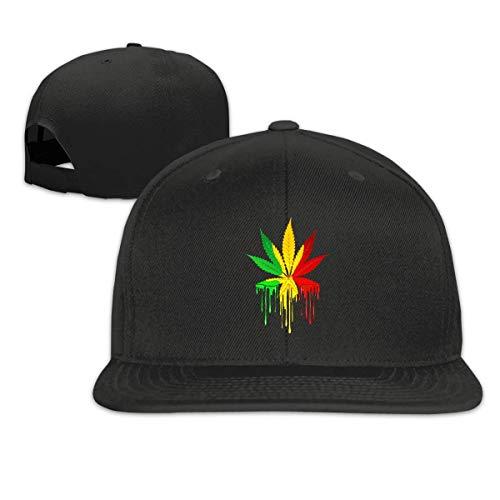 FOREVER ME Rasta Colors Marihuana Leisure Fashion Gorra de béisbol plana clásica