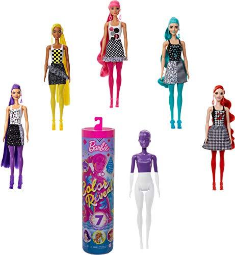 Barbie Color Reveal Puppe mit Enthüllungseffekt mit 1 Überraschungspuppe und weiteren Überraschungen, Spielzeug ab 3 Jahren