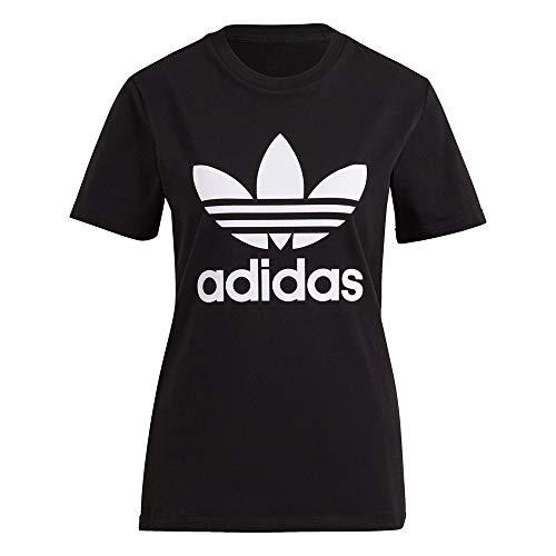 adidas GN2896 Trefoil Tee T-Shirt Womens Black 42