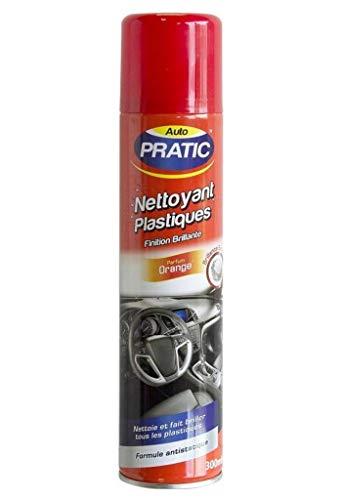 AUTO PRATIC Nettoyant Plastiques Finition Brillante Parfum Orange 300ml (Lot de 3)