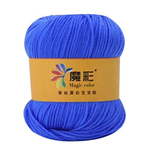 Serria® 50 g Handstrickgarn, Häkelgarn, Häkeln Sie DIY Sweater Line Schal Linie 4 Stränge von grobem Wattebausch atmungsaktiv Nicht leisten Verblasst Nicht