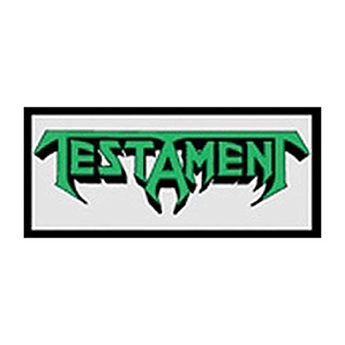 TESTAMENT LOGO, Officially Licensed Original Artwork, Premium Quality Iron-On / Sew-On, 3.5