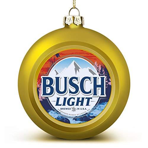 VinMea Christmas Ball Ornaments Busch Light Flag Cool Beer Christmas Hanging Ball Decorative for Christmas Trees,Holiday Party