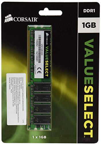Corsair VS1GB333 Value Select 1GB (1x1GB) DDR 333 Mhz CL2.5