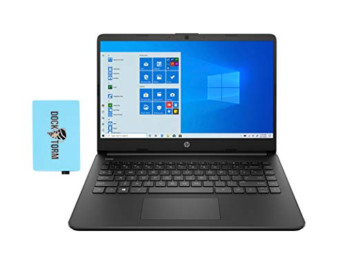 "HP 14z Jet Black Home and Business Laptop (AMD 3020e 2-Core, 8GB RAM, 128GB SSD, AMD Radeon Graphics, 14.0"" HD (1366x768), WiFi, Bluetooth, Webcam, 2xUSB 3.1, 1xHDMI, SD Card, Win 10 Home) with Hub"