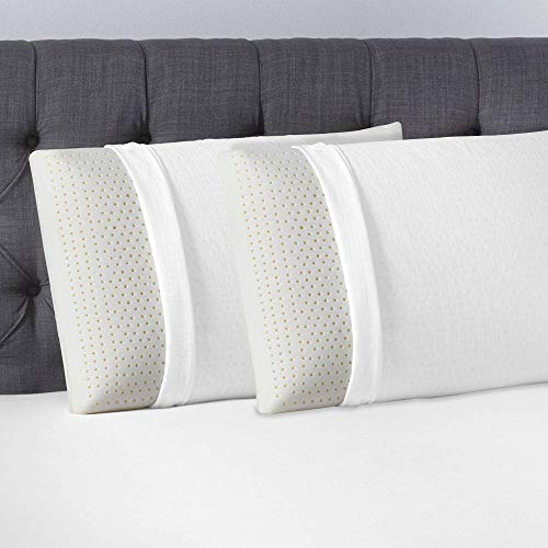 Beautyrest Latex Foam Pillow - 100% Talalay Latex Pillows - Queen 2 Pack