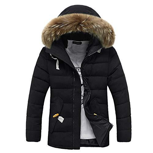 거대한 망막 망원 남성 겨울 짙은 긴 소매 톱니 꼭대기로 포켓이있는 옷