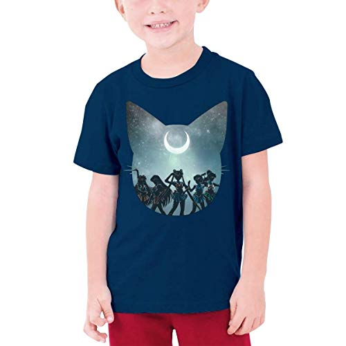 XCNGG Niños Tops Camisetas Sailor Team Black Other Boys and Girls Short Sleeve T-Shirts, Youth T-Shirts