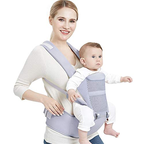 ASDFGH Ergonómico del Portador de bebé Mochila con Hipseat for recién Nacido multifunción Honda Infantil Cintura del Abrigo de heces del bebé Canguro (Color : Blue)