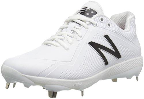 New Balance Men's L4040v4 Metal Baseball Shoe, Black/White, 16 2E US