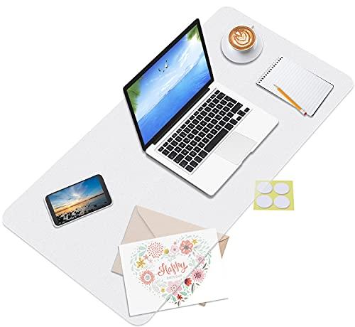 Schreibtischunterlage Transparent, DIAOCARE Desk Mat   90x40cm   Inkl Klebepunkte   Rutschfeste Schreibunterlage   Wasserdicht   Runde Kanten Multifunktionale Schreibtischmatte für Home & Office