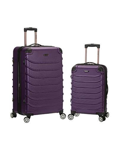 Rockland Speciale Hardside 2-Piece Expandable Spinner Luggage Set, Purple, (20/28)