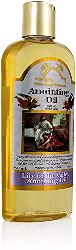 Aceite de unción del tesoro de las tierras de la Biblia de Nahal de primavera para la bendición de oración aceite de alegría   Lily of the Valleys 250ml