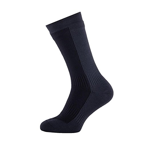 SealSkinz Herren Socks Waterproof Hiking Mid Mid, Black/Anthracite, M, 11116170500120