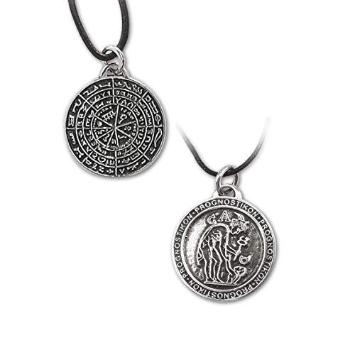 Amulett Prognostikon griechischer Zauberkreis 925 Sterling Silber