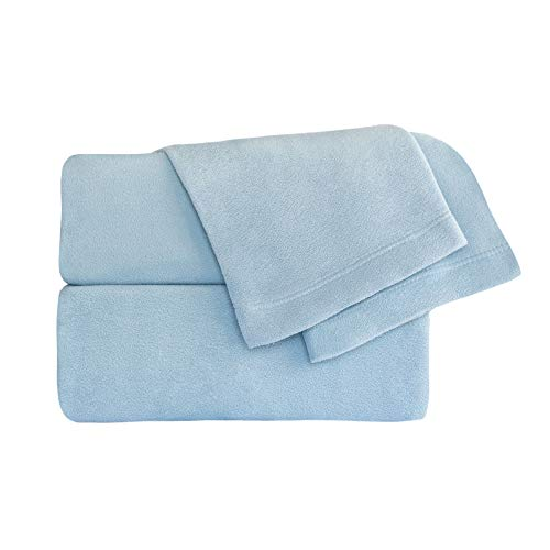 Cozy Fleece Microfleece Sheet Set, Queen, Wedgewood