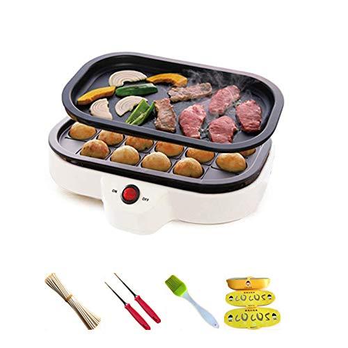 Octopus Ball Maschine Kleines Takoyaki Maker BBQ Grill Mini Steak Bratpfanne Backplatten Elektrische Octopus Bälle Maschine 20 Löcher 220V