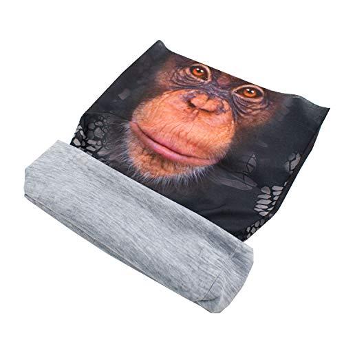 TRIXES Monkey Animal Design - Écharpe en tube avec bandana Balaclava - - Tête multifonctionnelle Protection solaire - Pour motocyclistes - Polyester extensible - Unisex - Taille unique